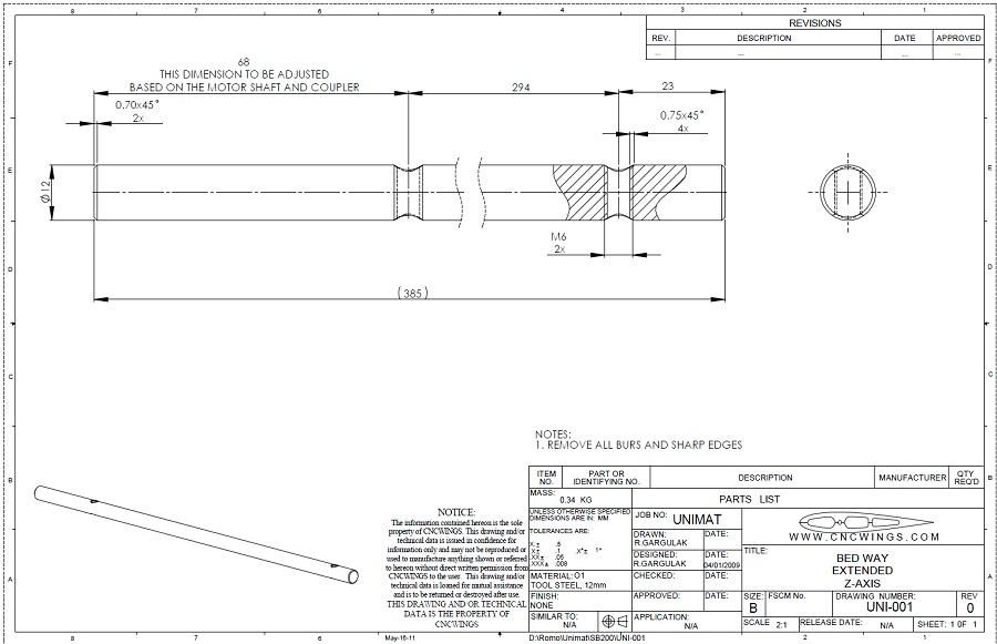 Extended bed way Z axis - PDF file