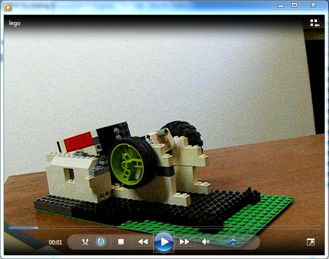 LEGO Single Cylinder Oscillating engine - video